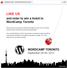 Wordcamp Facebook Fangate